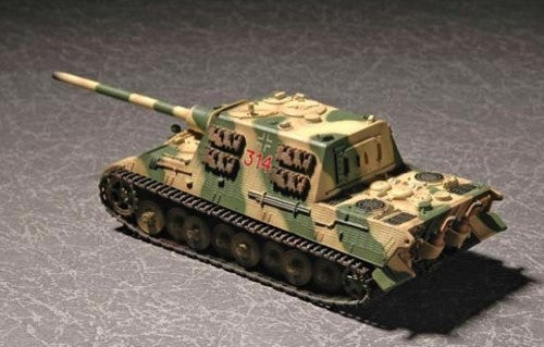 Trumpeter Military Models 1/72 German SdKfz 186 Jagdtiger Tank (Porsche Gear) w/Zimmerit Kit