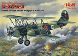 ICM Aircraft 1/72 WWII Soviet U2/Po2 Multi-Purpose Aircraft Kit