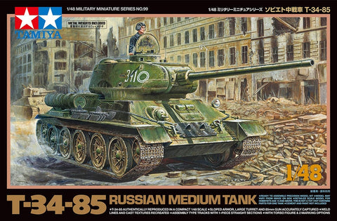 Tamiya Military 1/48 T34/85 Russian Medium Tank Kit