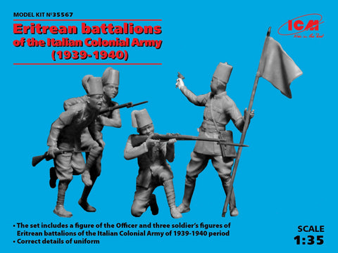 ICM Military Models 1/35 Eritrean Battalions of the Italian Colonial Army 1939-40 (4) (New Tool) Kit