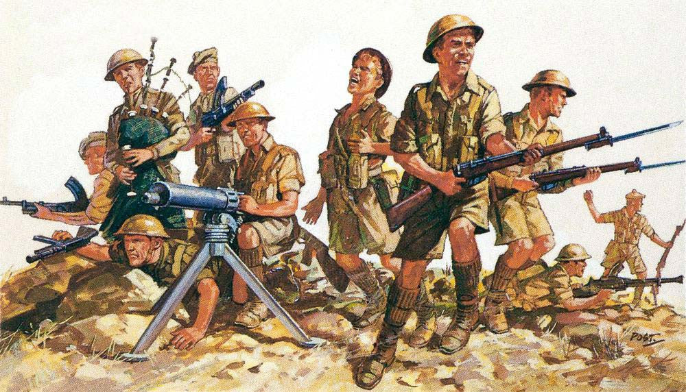 Revell Germany Military 1/76 WWII British 8th Army (44) Kit