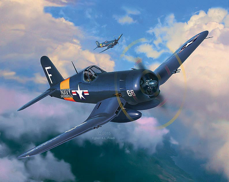 Revell Germany Aircraft 1/72 F4U4 Corsair US Fighter/Bomber Kit