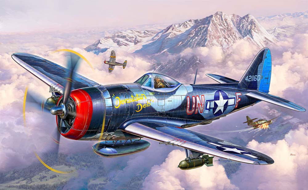 Revell Germany Aircraft 1/72 P47M Thunderbolt Fighter Kit