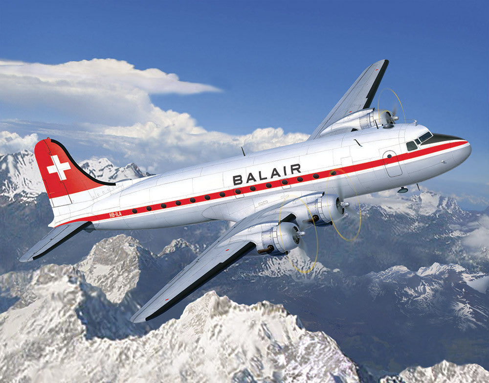 Revell Germany Aircraft 1/72 DC4 Balair Commercial Airliner Kit