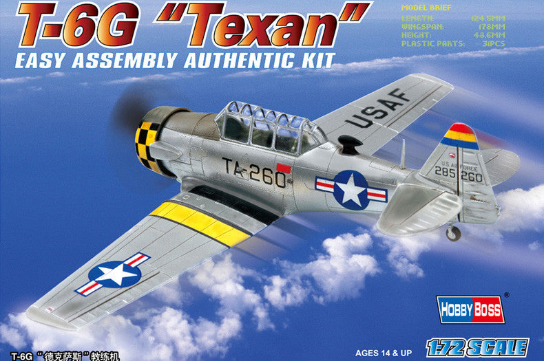 HOBBY BOSS AIRCRAFT 1/72 AMERICAN T-6G TEXAN KIT