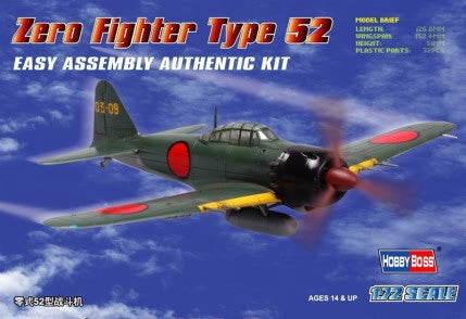HOBBY BOSS AIRCRAFT 1/72 ZERO TYPE 52 KIT
