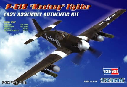 Hobby Boss Aircraft  1/72 P-51B Mustang Kit