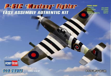 Hobby Boss Aircraft  1/72 P-51C Mustang Kit