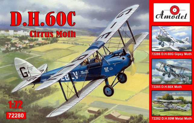 A Model From Russia 1/72 DH60C Cirrus Moth 2-Seater Biplane Kit