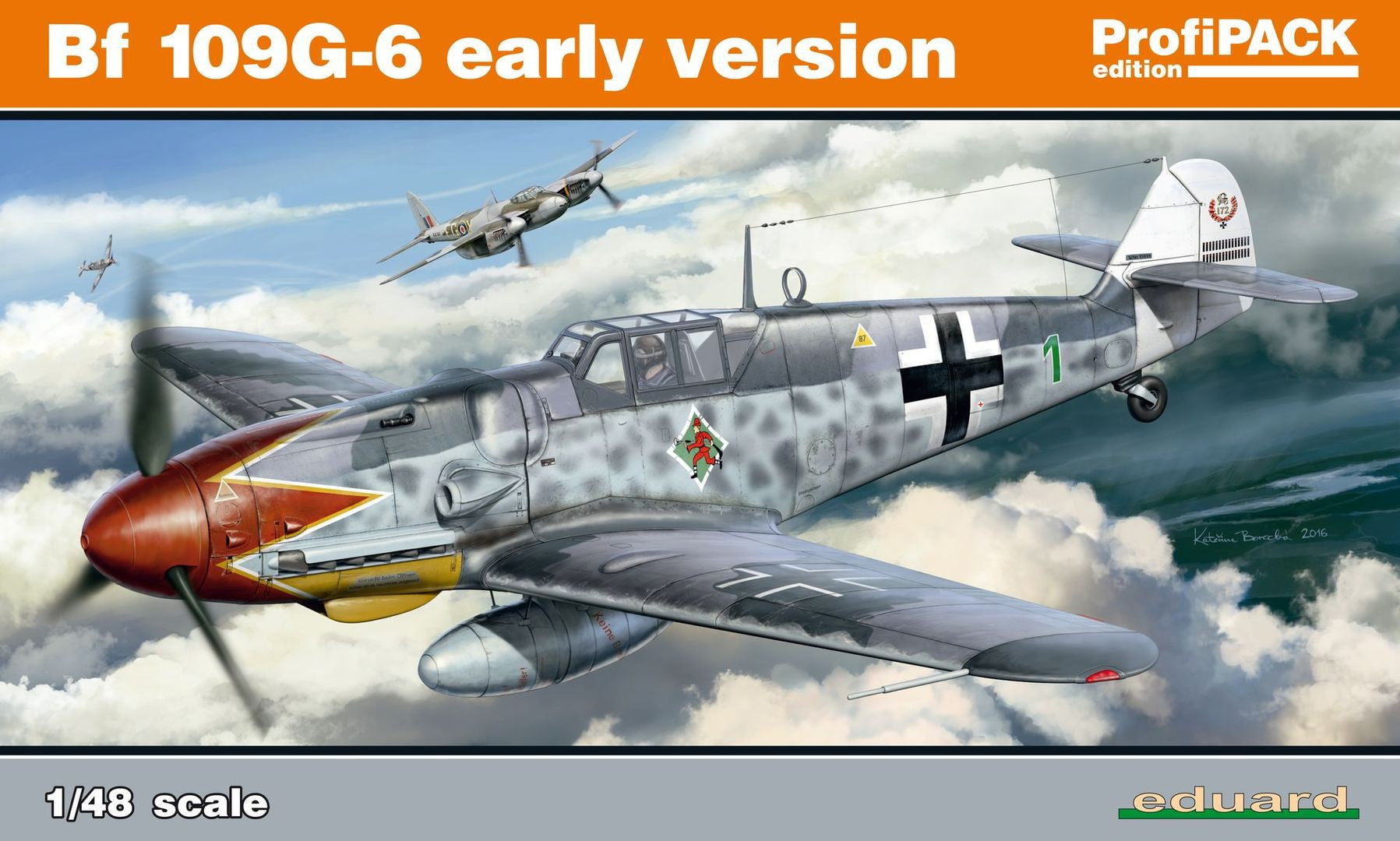 Eduard Aircraft 1/48 Bf 109G-6 Early Version ProfiPACK Kit