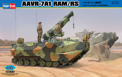 Hobby Boss Military 1/35 AAVR-7A1 W/RAM/RS Kit