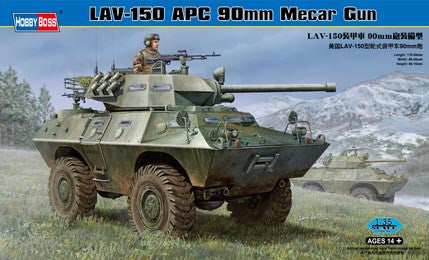 HOBBY BOSS MILITARY 1/35 LAV-150 APC 90mm MECAR GUN KIT