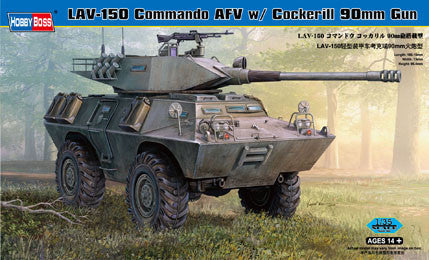 Hobby Boss Military 1/35 LAV-150 APC 90MM Cockeri;; Kit