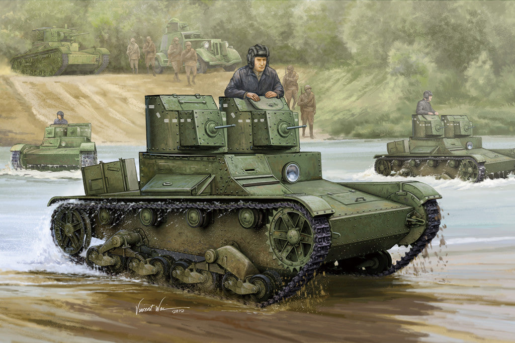 HOBBY BOSS MILITARY 1/35 SOVIET T-26 LIGHT TANK KIT