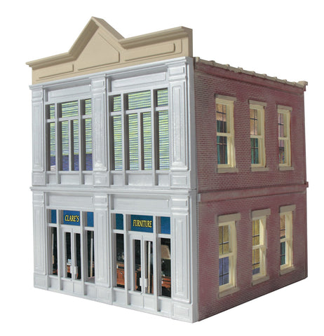 O Gauge Ameri-Towne: Clare's Furniture 2-Story Building Kit