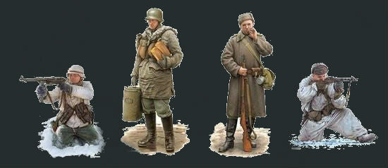 Dragon Military Models 1/35 Battle of Kharkov Soldiers Winter Dress 1943 (4) Kit