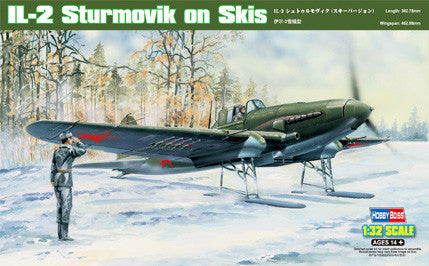 Hobby Boss Aircraft 1/32 IL-2 Sturmovk on Skis Kit