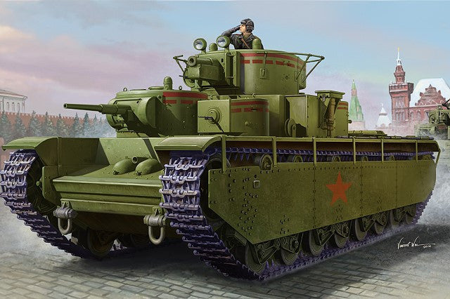 HOBBY BOSS MILITARY 1/35 SOVIET T-35 HEAVY TANK KIT