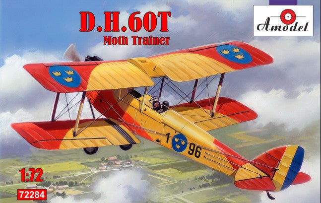 A Model From Russia 1/72 DH60T Moth Trainer 2-Seater Biplane Kit