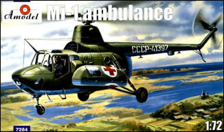 A Model From Russia 1/72 Mi1M Soviet Ambulance Helicopter Kit