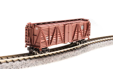 Broadway Limited N PRR K7 Stock Car with Chicken Sounds - Ready to Run - Santa Fe (Boxcar Red)
