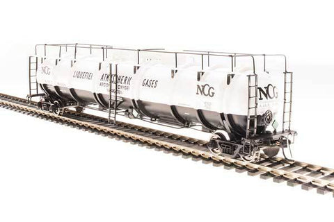 Broadway Limited N High-Capacity Cryogenic Tank Car - RTR - NCG (White, Black)