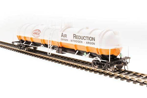 Broadway Limited N High-Capacity Cryogenic Tank Car - RTR - AirCo (Orange, Black, White, Blue)