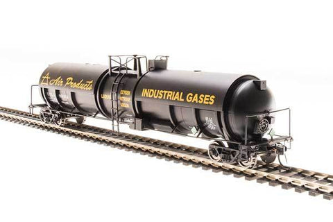Broadway Limited N High-Capacity Cryogenic Tank Car - RTR - Air Products (Black, Yellow)