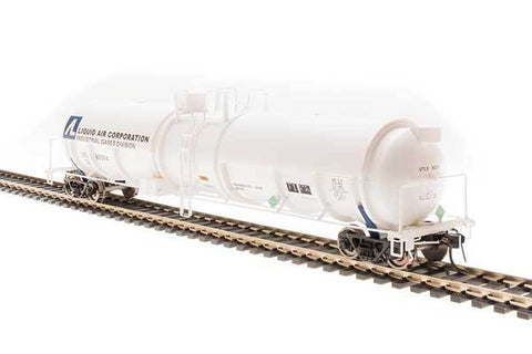 Broadway Limited N High-Capacity Cryogenic Tank Car 2-Pack - RTR - Liquid Air Corporation (White, Blue)