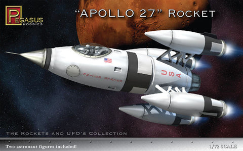 Pegasus Sci-Fi 1/72 Apollo 27 Rocket w/Figures Kit