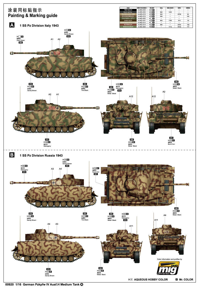 the sale of shoes official site info for Trumpeter Military Models 1/16 German PzKpfw IV Ausf H Medium Tank Kit