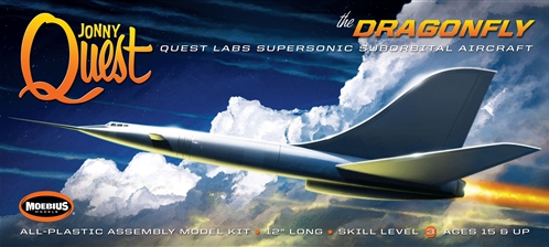 "Moebius Sci-Fi Jonny Quest: Dragonfly Supersonic Suborbital Aircraft (12"" L) Kit"