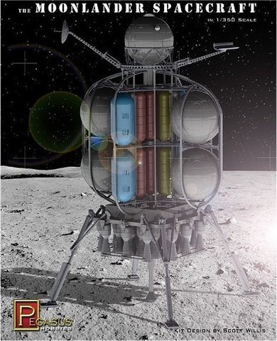 Pegasus Sci-Fi 1/350 The Moonlander Spacecraft Kit