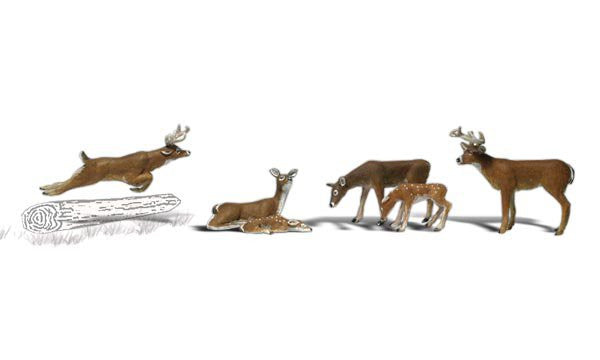Woodland Scenics N Scenic Accents Deer (6)
