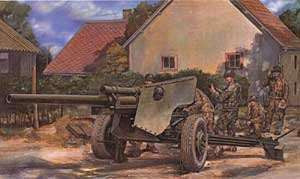 AFV Club Military 1/35 US 3 Inch Anti-Tank M5 Gun on M6 Carriage Kit