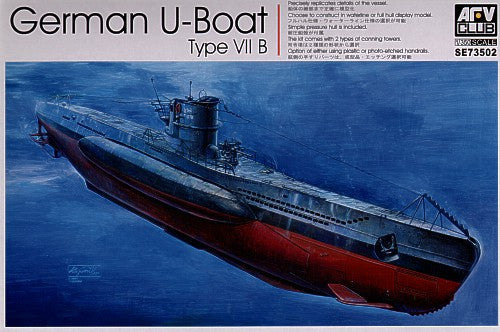 AFV Club Ships 1/350 German U-Boat Type VII B Submarine Kit