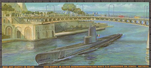 AFV Club Ships 1/350 USN Guppy IB Class Submarine Kit
