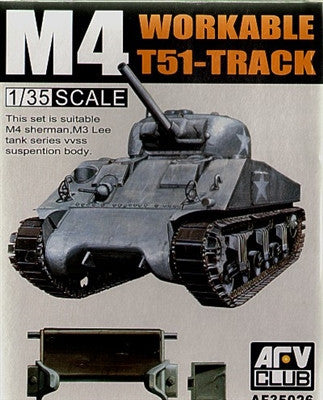 AFV Club Military 1/35 M4/M3 T51 Workable Track Links Kit