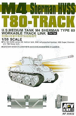 AFV Club Military 1/35 M4 Sherman HVSS Type 80 Workable Track Links Kit