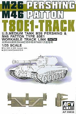 AFV Club Military 1/35 T80E1 Track Links Steel Type Kit