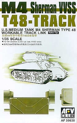 AFV Club Military 1/35 T48 Track Links Kit
