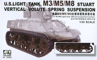 AFV Club Military 1/35 US Light Tank M3/5/8 Stuart Vertical Volute Spring Suspension Kit