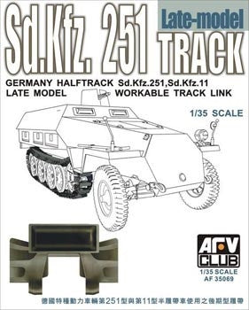 AFV Club Military 1/35 SdKfz 251/SdKfz 11 Late Workable Track Links Kit