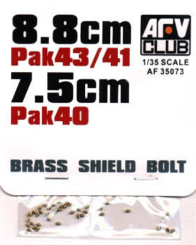 AFV Club Military 1/35 8.8cm PaK 43/41 & 7.5cm PaK 40 Shield Bolts (Brass) Kit