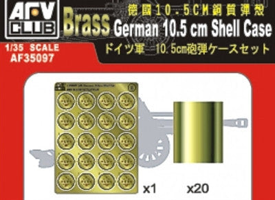 AFV Club Military 1/35 German 10.5cm Shell Cases (20) Kit