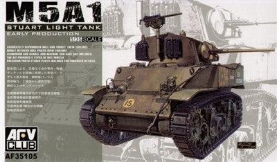 AFV Club Military 1/35 M5A1 Stuart Light Early Tank Kit