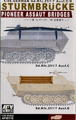 AFV Club Military 1/35 Pioneer Assaut Bridges for SdKfz 251/7 Ausf C/D (2) Kit
