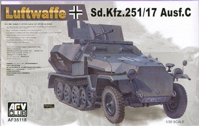 AFV Club Military 1/35 SdKfz 251/17 Ausf C Luftwaffe Halftrack Kit