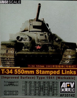 AFV Club Military 1/35 T34 550mm Workable Stamped Track Links Kit