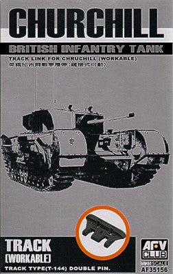 AFV Club Military 1/35 British Churchill Type T144 Dbl Pin Workable Track Links Kit